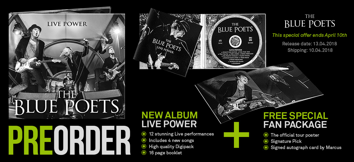 The Blue Poets - Live Power Pre-order