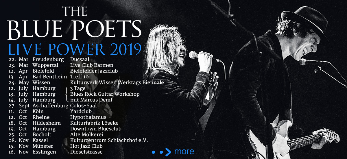 Marcus Deml new Band The Blue Poets Live 2019